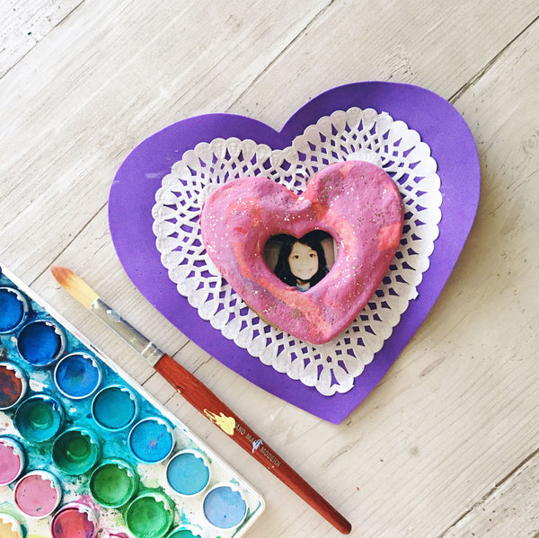 Painted Clay Heart