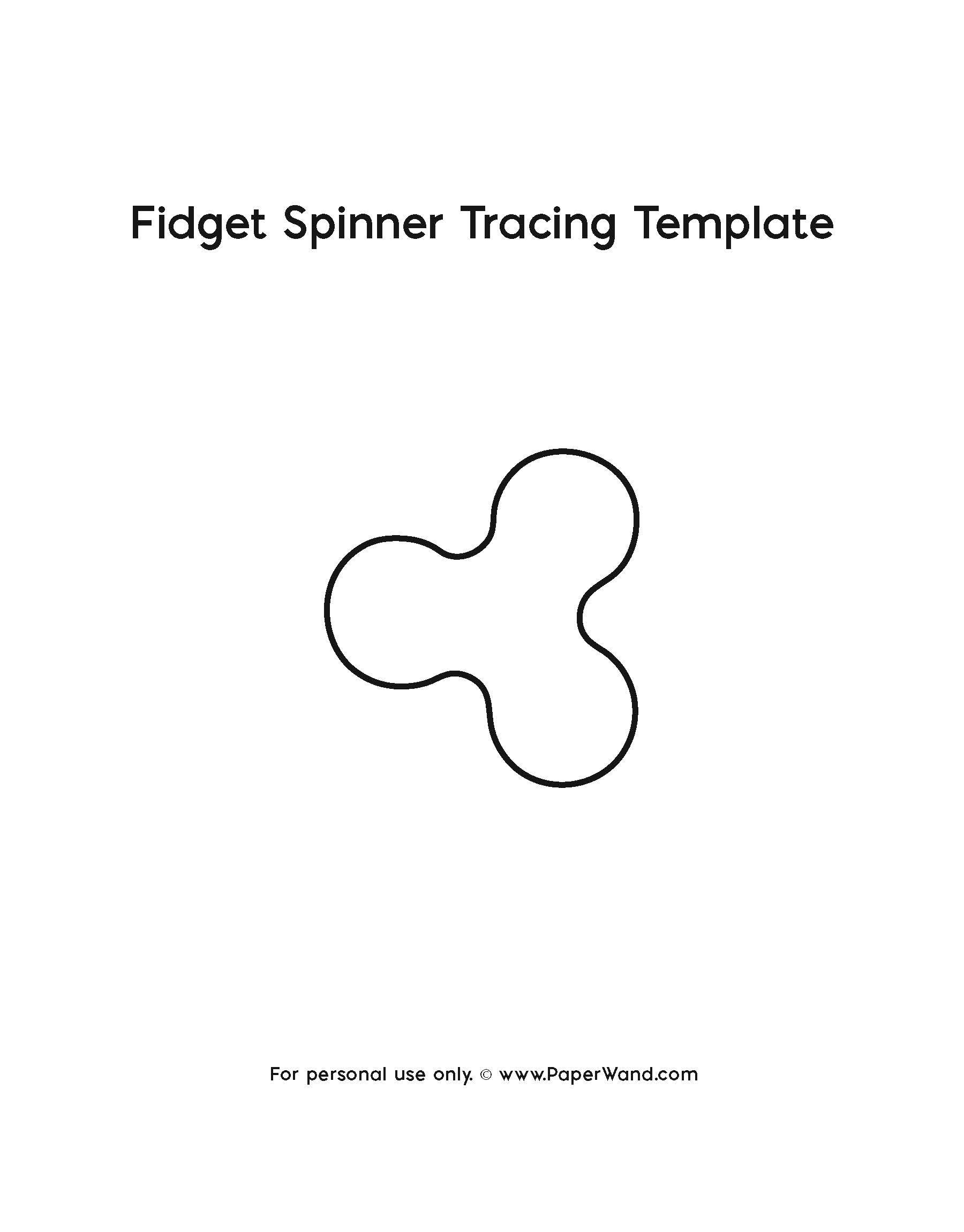 Fidget Spinner Template Paperwand