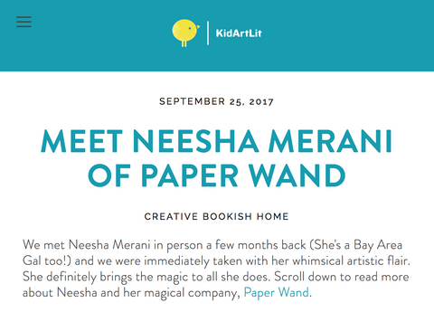 interview with Neesha at PaperWand.com