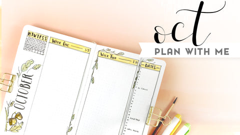 plan with me October bullet journal