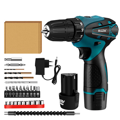 Electric Cordless Screwdriver Lithium Battery Mini Drill And Power Tools - JustgreenBox
