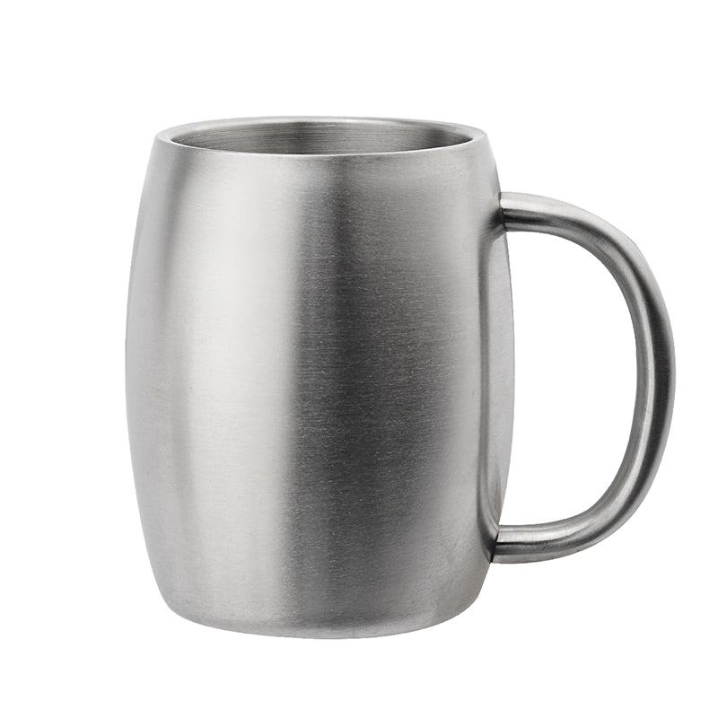Stainless Steel Coffee Beer Double Wall Thermo Wine Tumbler Travel Mugs For Tea Cup Moscow Mule (Silver 400ml) - JustgreenBox