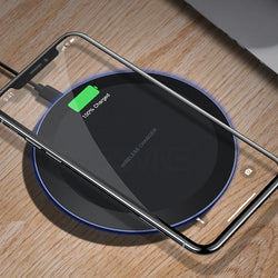 Fast Charging 5W Wireless Charger for iPhone X Xs Samsung - JustgreenBox