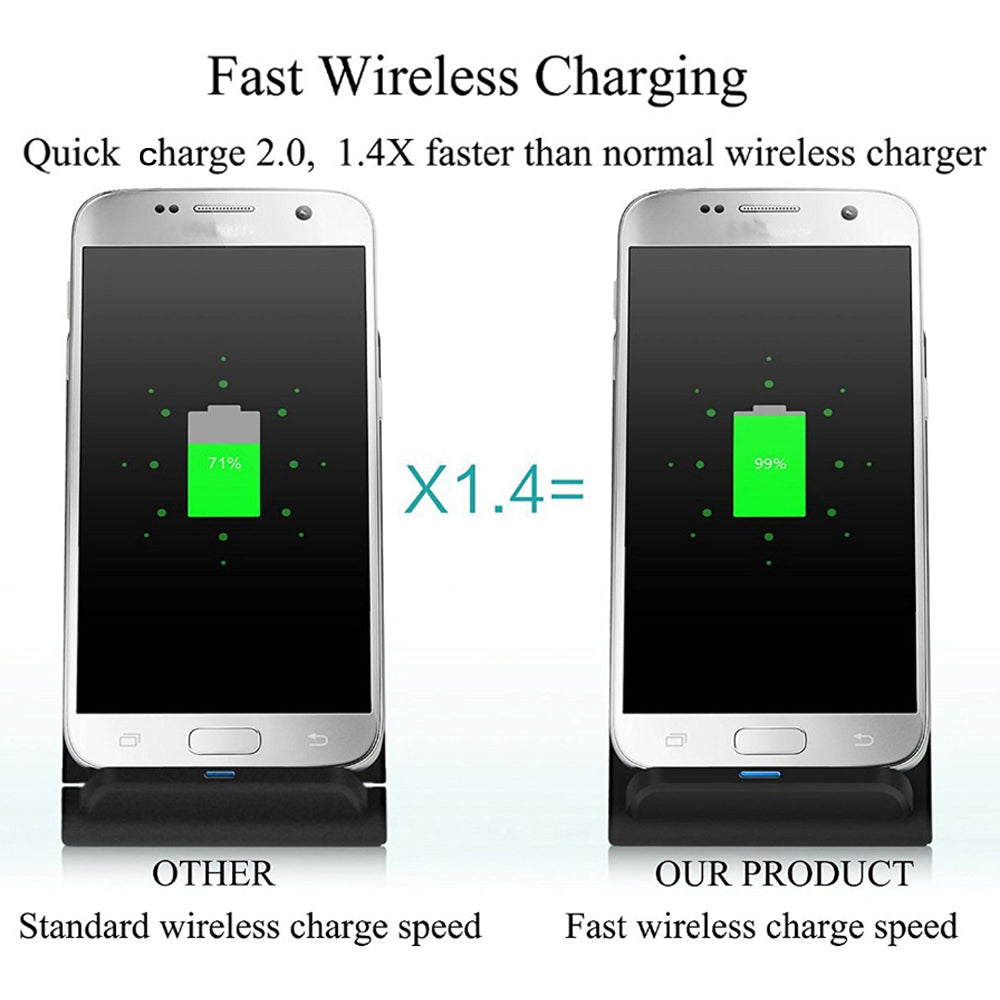 QI Wireless Charger Quick Charge Fast Charging for iPhone 8 / iPhone X - JustgreenBox