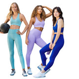 Seamless Gym Set Nylon Woman Sportswear Exercise Leggings Padded Sports Bras Fitness Wear Yoga Suits