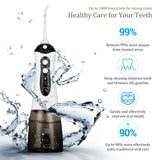 300ML Portable Cordless Water Flosser Oral Irrigator For Travel WHITE - JustgreenBox