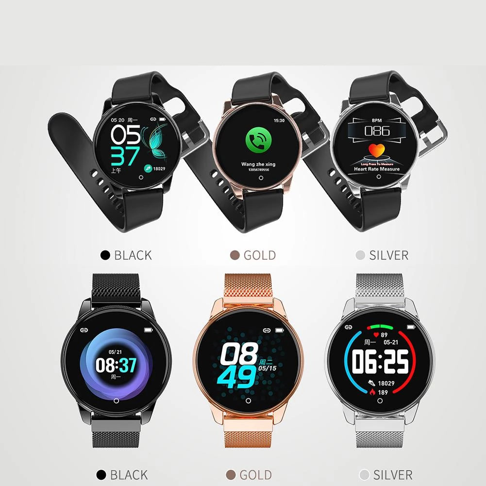 Heart Rate Blood Pressure Monitoring Health Reminder Bracelet IP67 Waterproof Sports Smart Watch - JustgreenBox