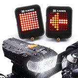 Bike Front Light 64 LED Intelligent Brake Warning Bicycle Taillight Set German Standard