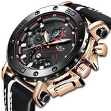 Luxury Big Dial Military Leather Waterproof Quartz Watch For Men - JustgreenBox