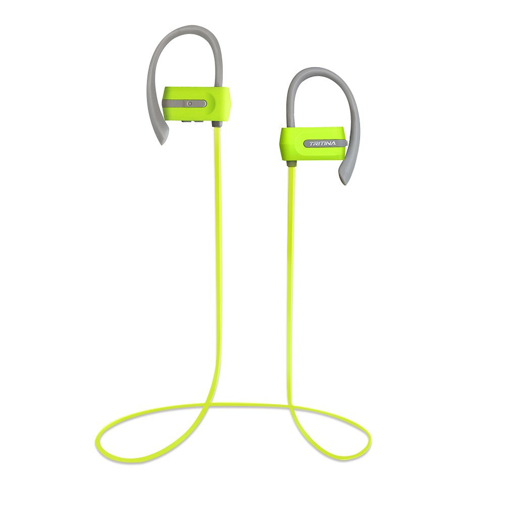 TRITINA Sport Headphone - Wireless Bluetooth with Microphone HD Stereo Noise Cancelling Earphone for Running Workout, Jogging [Black] - JustgreenBox