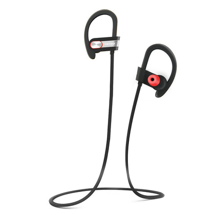 Tritina Sports Bluetooth Earphone Built-in Microphone,Sweatproof Wireless Headphone with Memory Foam Earbuds Stereo Sound for Running,Jogging - Black with Gold