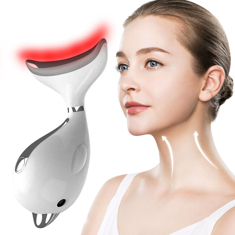 Neck Photon Therapy Heating Wrinkle Removal Reduce Double Chin Skin Lifting Machine