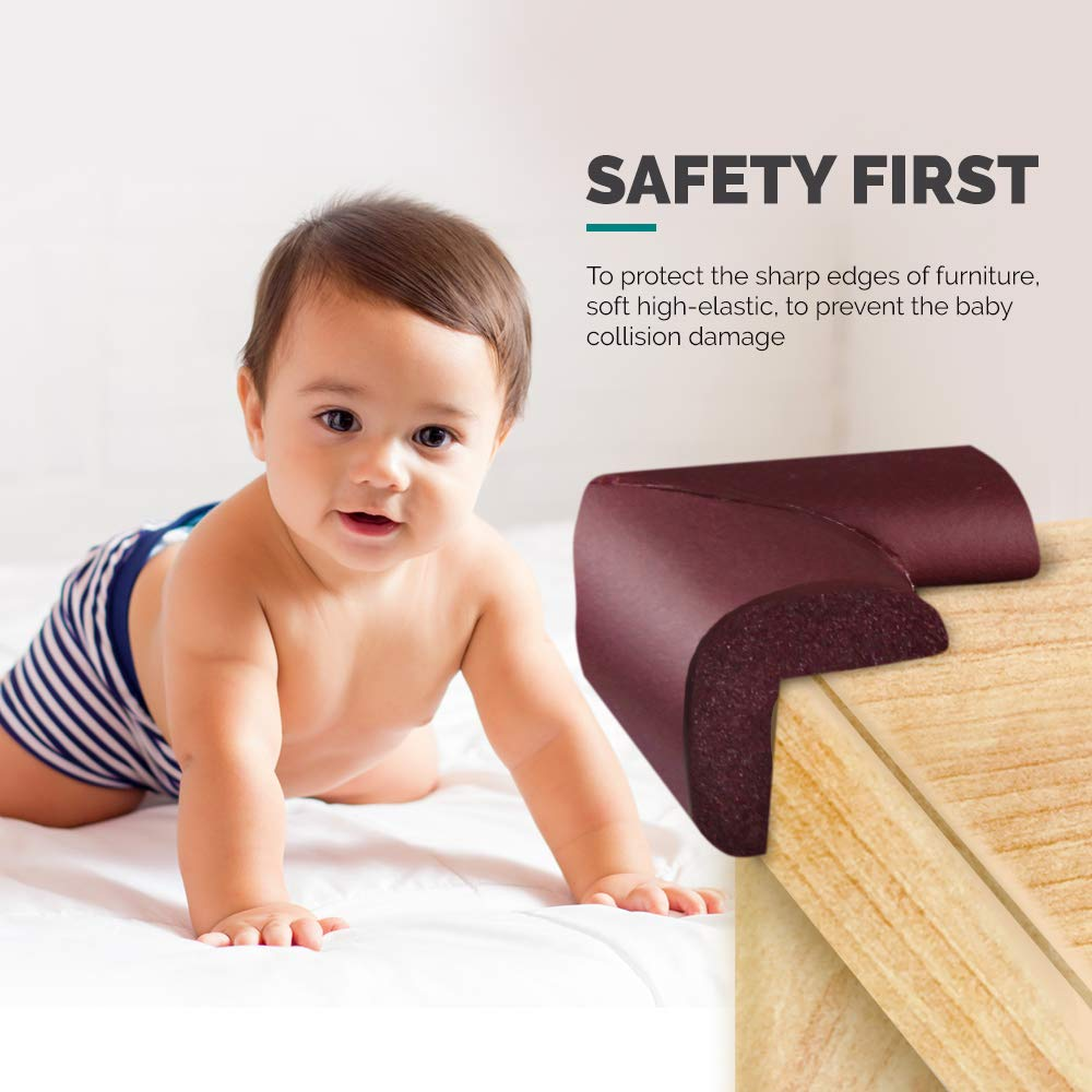 Akisor Corner Safety Bumpers Healthy PBA Free Baby Cushion with 3M Tape,Table Furniture Safety Protect Child,Keep Your Kids Head Safe Under Stairs,Pack of 8pcs - JustgreenBox