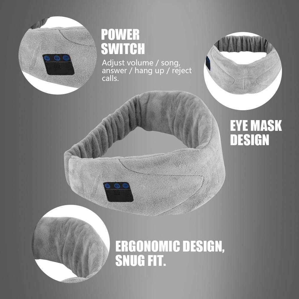 Music Eye Patch, Sleep Headphone Washable Eye Patch Wireless Headset Built-in Earphone Music Eye Mask