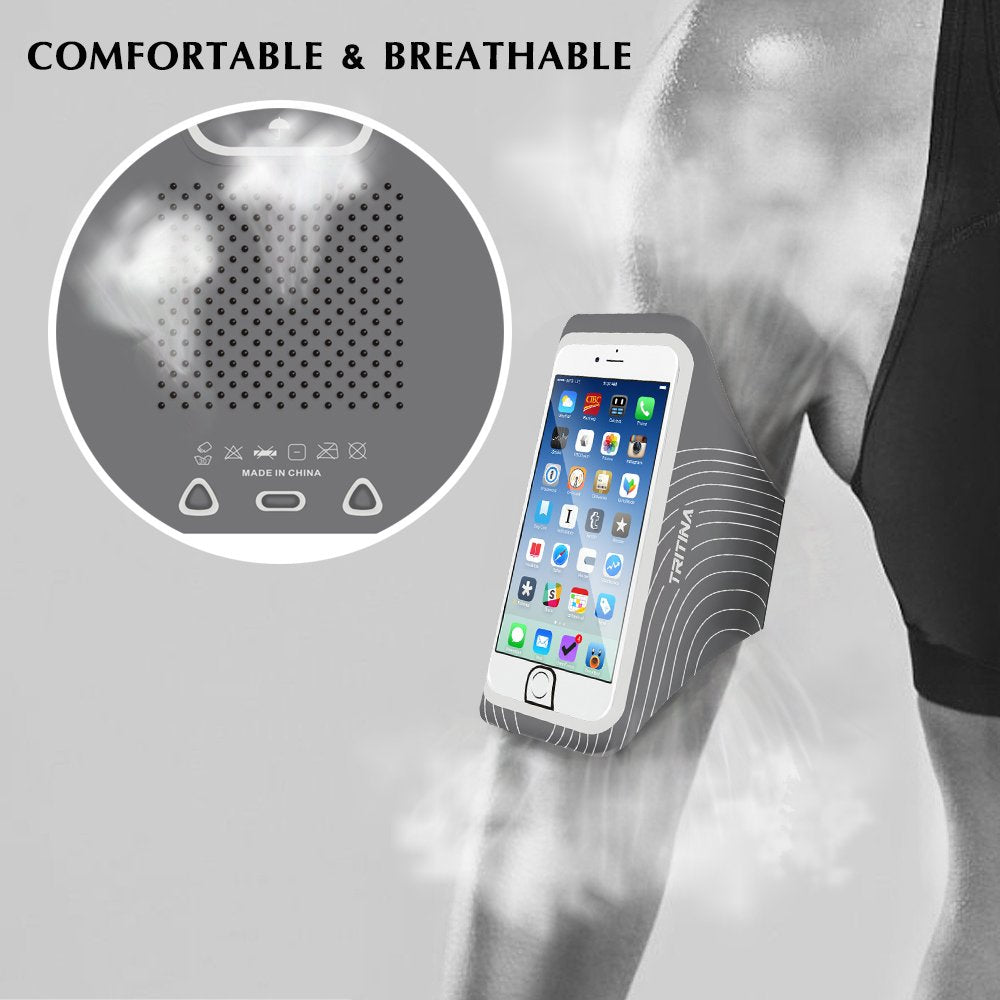 TRITINA Sport Armband Size Up to 5.5inch for Smartphone with Touch ID + Fitness Cool Towel - JustgreenBox