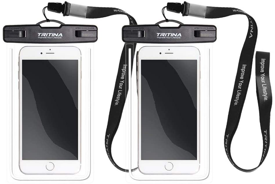 "Tritina Waterproof Phone Pouch Universal fit Size Up to 6"" Any Traveler Outdoor Adventurer Pack of 2 - JustgreenBox"