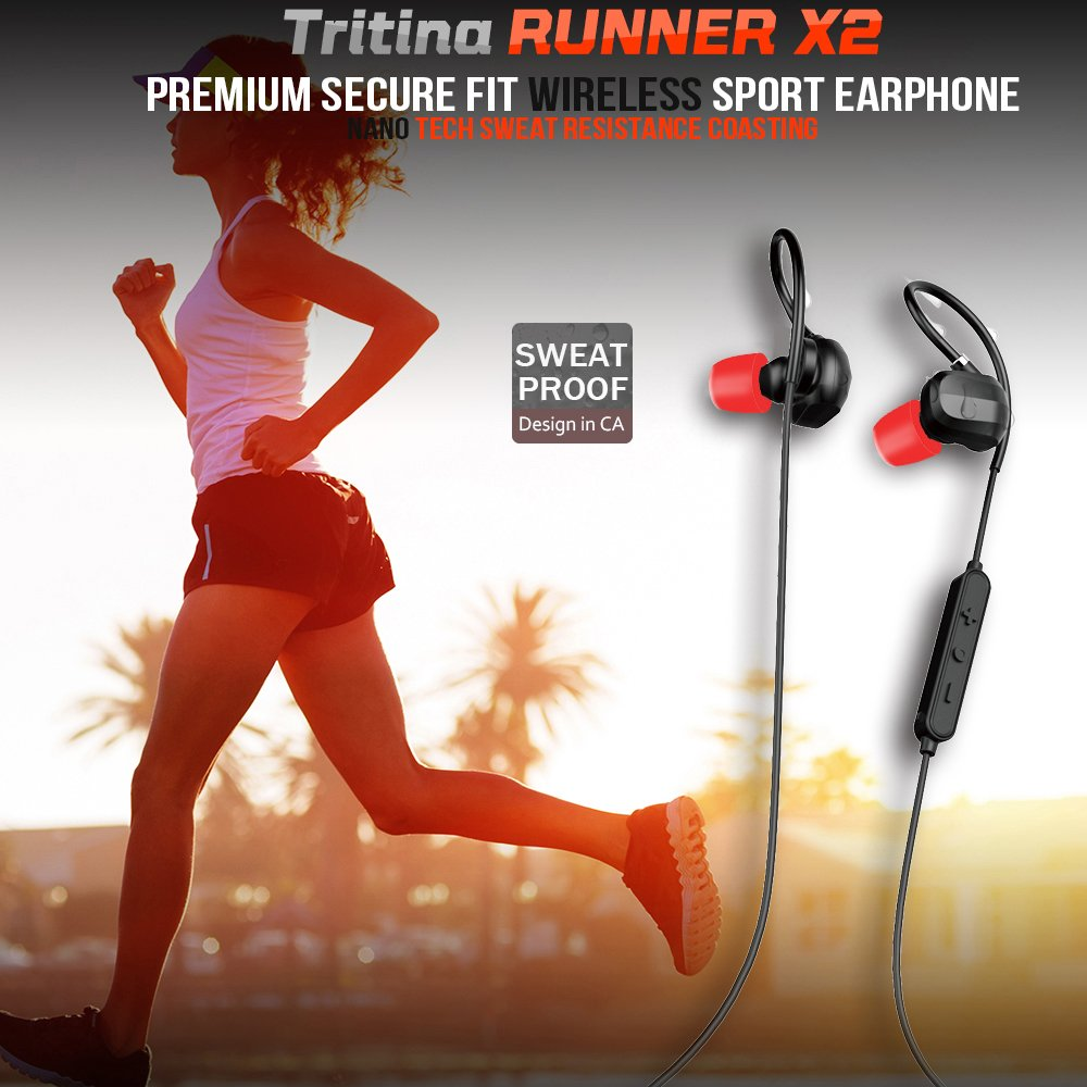 Bluetooth Sport Headphones with MIC - for iPhone,Smartphone + Comfortable Memory Earbuds Stereo Sound,Running,Jogging,Riding - JustgreenBox