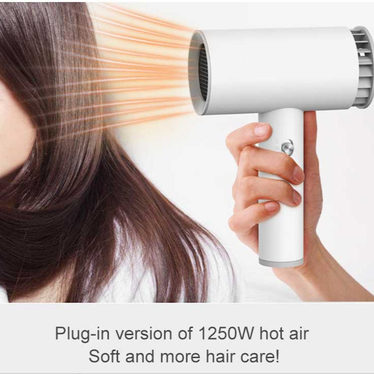 Smart Portable Electric Hair Dryer Low Noise Quick Dry For Travel USB Rechargeable