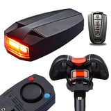 3 In 1 Bicycle Rear Light Wireless Remote Control Alarm Lock Fixed Position COB Tailight
