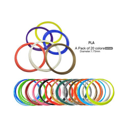 3D Printer Filament PLA Diameter:1.75 mm - 20 Colors - JustgreenBox
