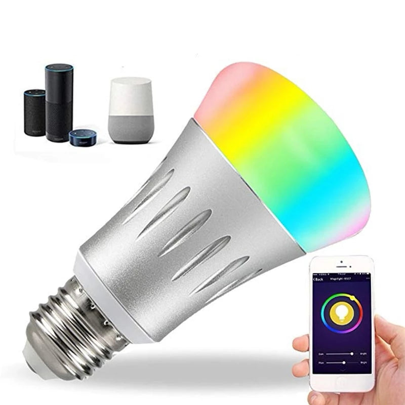 7W Smart LED Light Wireless Bulb Works with Remote Control - JustgreenBox
