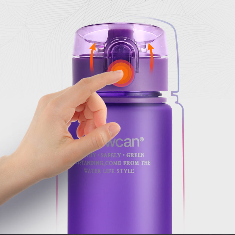 Water Bottle Plastic Drinkware Tour Outdoor Sport School Leak Proof Seal Gourde Climbing