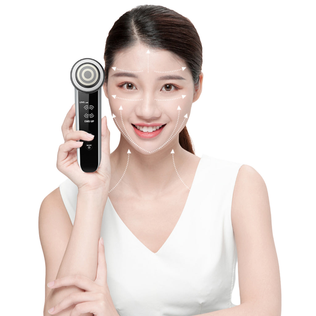 Radiofrequency Facial Lifting Tighten Wrinkle Removal Massager Mesotherapy Electroporation LED Photon
