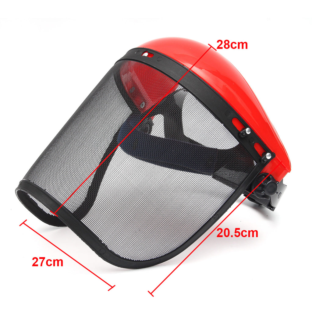 Clear Mesh Full Visor Flip Up Face Shield Screen Safety Mask Eye Protector Helmet Red - JustgreenBox