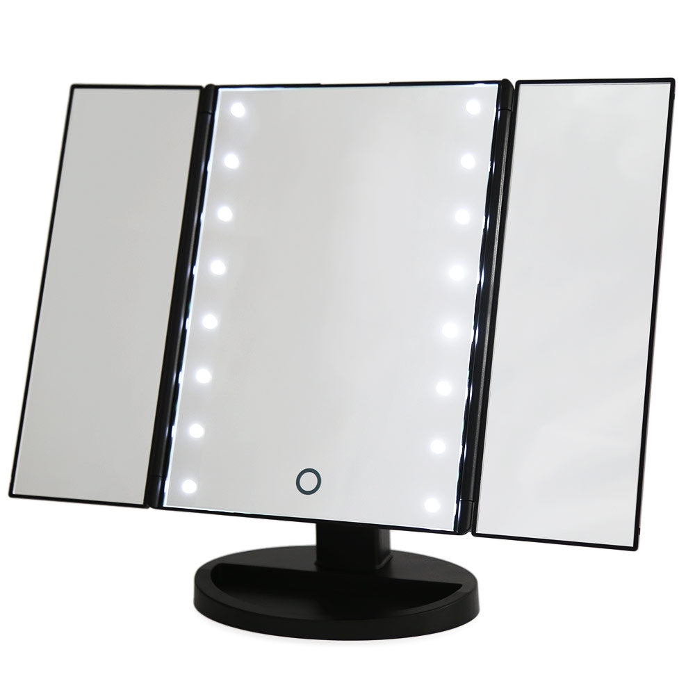 Portable Folding Table 16 LEDs Lamp Luminous Cosmetic Mirror - JustgreenBox