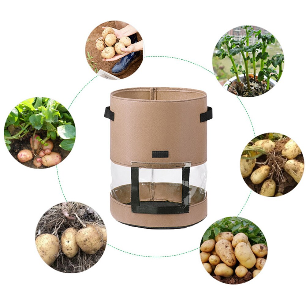 Plant Grow Bags Home Garden Potato Greenhouse Vegetable Growing Moisturizing Jardin Vertical Bag Seedling