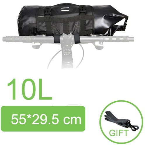 Waterproof Bicycle Handlebar Basket Pack Front Tube Bag Cycling Frame Pannier Accessories