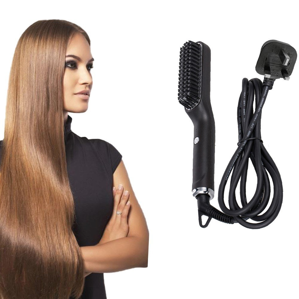 Hair Straightener Brush Electric Straightening Comb