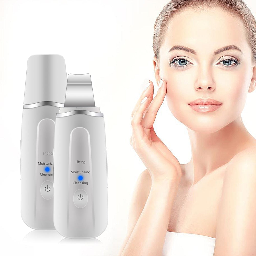 Blackhead Wrinkles Remover Vibration Massage Machine Deep Facial Cleansing Ultrasound Skin Scrubber
