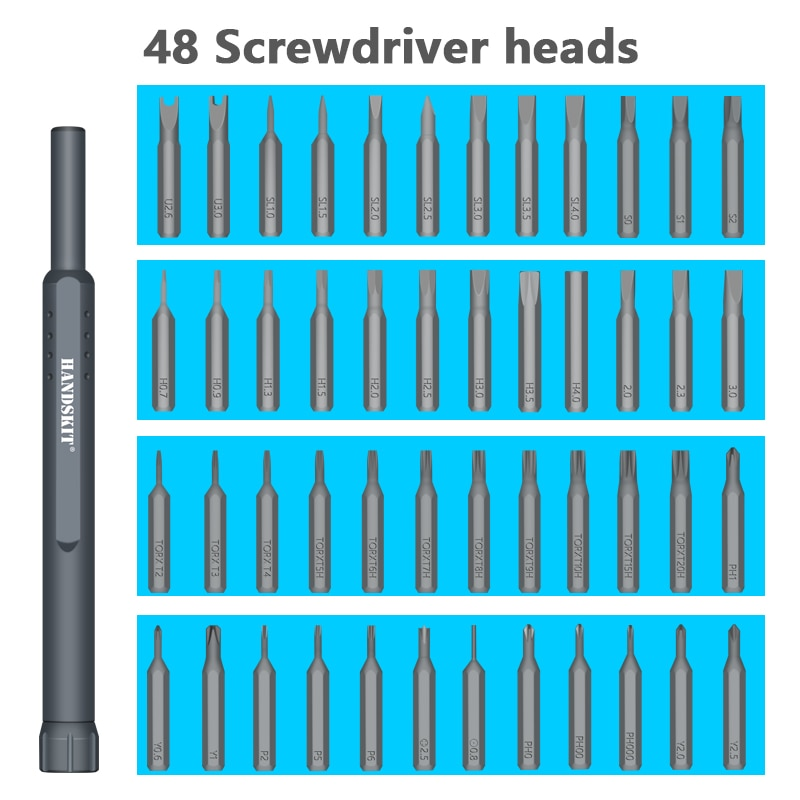 49 In 1 Precision Screwdriver Set Magnet Repair Electronics Tool Kit - JustgreenBox