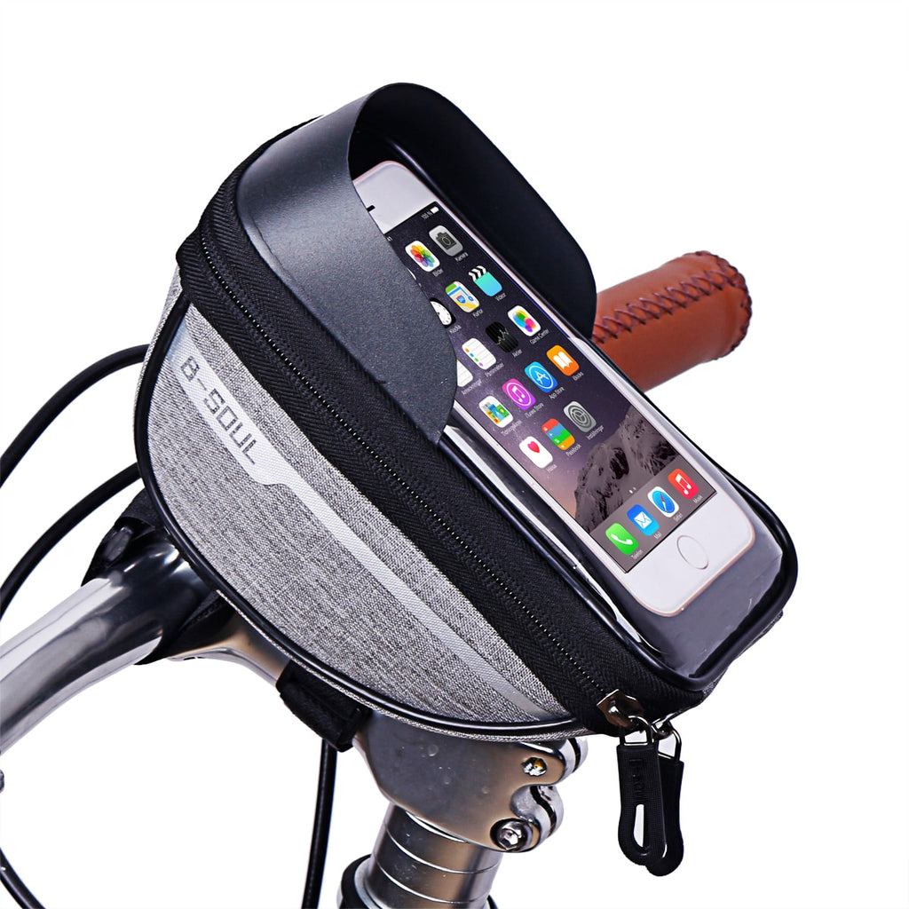 Cycling Bike Head Tube Handlebar Mount Bag With Mobile Phone Case Holder Screen