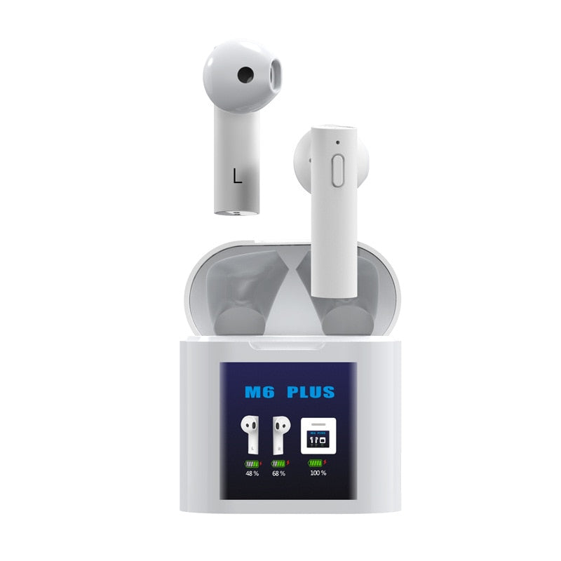 True Bluetooth Wireless Earbuds 5.0 with Temperature Detector (M6 add Thermometer)