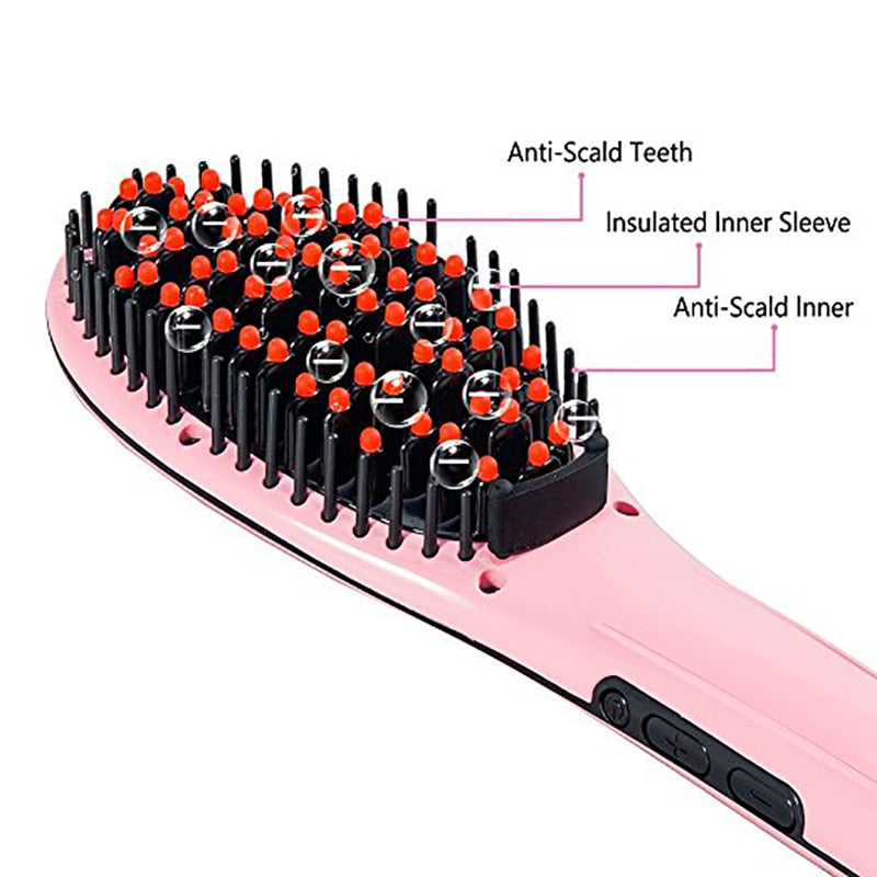 Electric Hair Care Fast Straightening Comb Auto Massager Styling Brush