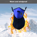 Warm Fleece Bike Half Face Cover Hood Protection Cycling Ski Sports Outdoor Winter Neck Guard Scarf Mask - JustgreenBox