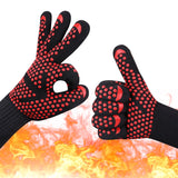 bakewere Oven Mitts Gloves BBQ Silicon gloves High Temperature Anti-scalding 500/800 Degree Insulation Barbecue Microwave