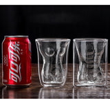 Heat Resistant Double Wall Glass Creative Sexy Lady/Men Heart Love Shaped Coffee Cup/Mugs For Tea/Milk/Water/Beer - JustgreenBox