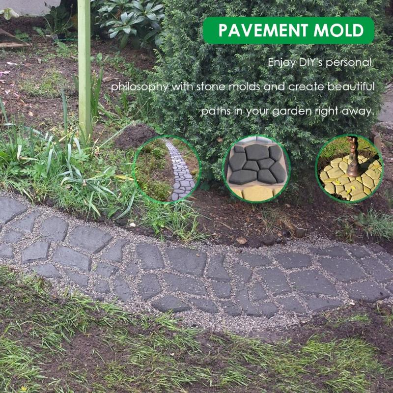Manually Paving Cement Brick Concrete Molds DIY Plastic Path Maker Mold Garden Stone Road Decoration - JustgreenBox