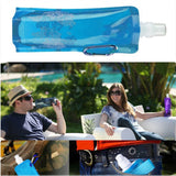 Foldable Water Bottle Bags 480ML Environmental Protection Collapsible Portable Outdoor Sports For Hiking Camping - JustgreenBox