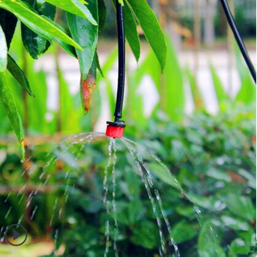 Micro Drip Irrigation System Plant Automatic Spray Greenhouse Watering Kits Garden Hose Adjustable Dripper Sprinkler - JustgreenBox