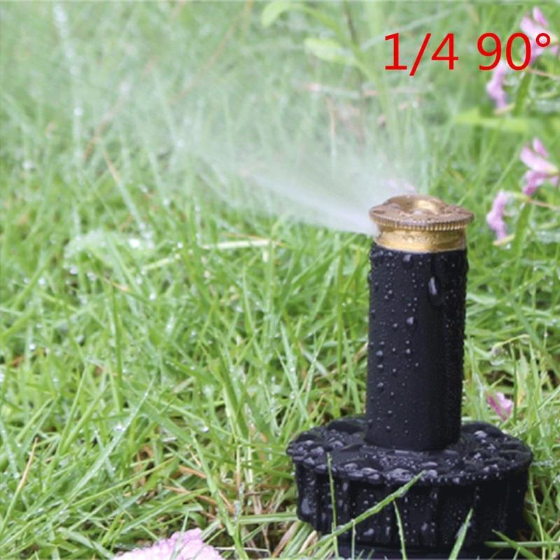 "Pop up Sprinklers Plastic Lawn Watering Sprinkler Head Adjustable Garden Spray Nozzle 1/2"" Female Thread 2 Pc - JustgreenBox"