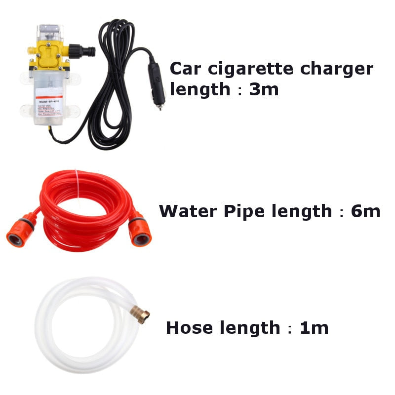High Pressure Car Electric Washer Wash Pump Set Portable Auto Washing Machine Kit With USB Charger - JustgreenBox