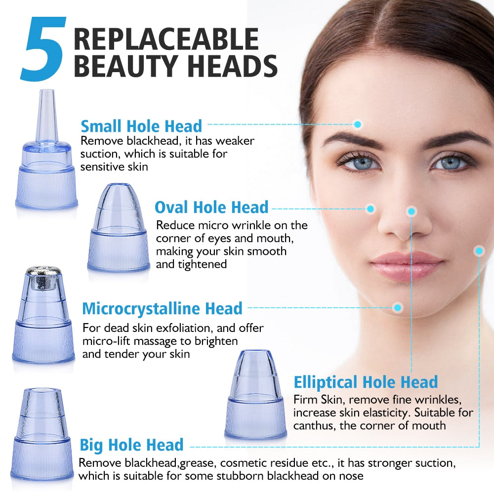 Blackhead Remover Vacuum Pore Cleaner Electric Nose Face Deep Cleansing Skin Care Machine