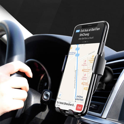 Car Mount Qi Wireless Charger Phone Holder In Car Air Vent For iPhone XS Max X XR 8 Fast Wireless Charging Dock Dropship