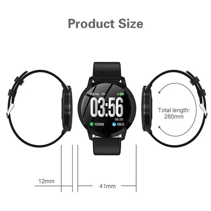 Elegant Smart Heart Rate Blood Pressure Tracker Watch Women 1.22-inch Large Screen Waterproof IP67 For IPhone 7/Xiaomi - JustgreenBox