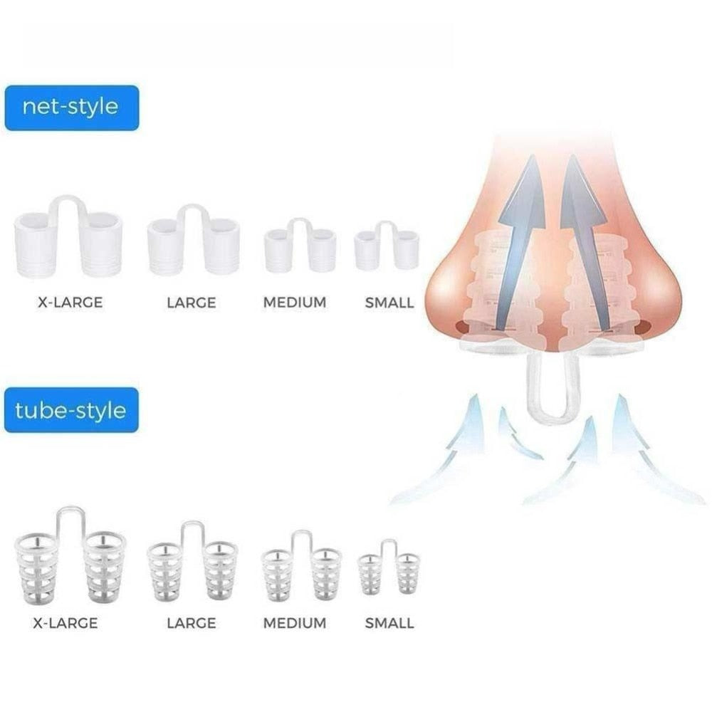 Anti Snore Apnea Nose Clip Anti-Snoring Breathe Aid
