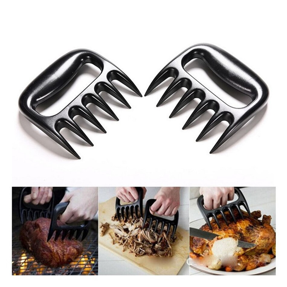 Bear Claws Barbecue Fork Manual Pull Meat Shred Pork Clamp Roasting Kitchen BBQ Tools 2pcs